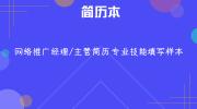 网络推广经理/主管简历专业技能填写样本