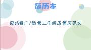 网站推广/运营工作经历简历范文