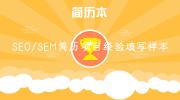 SEO/SEM简历项目经验填写样本