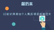 UI设计师岗位个人简历项目经验范文