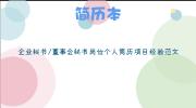 企业秘书/董事会秘书岗位个人简历项目经验范文