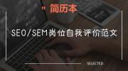 SEO/SEM岗位自我评价范文