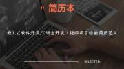 嵌入式软件开发/C语言开发工程师项目经验简历范文
