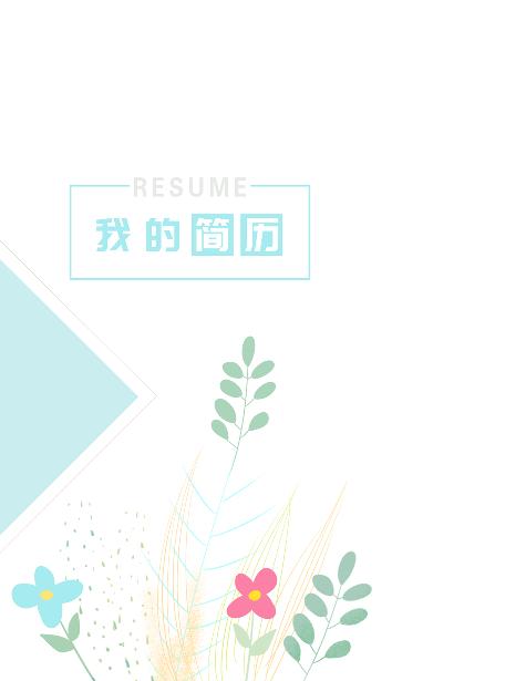 COV009简历封面