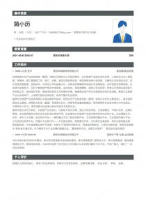 �紫葱泄貱EO/总裁/总经理personal简历模板