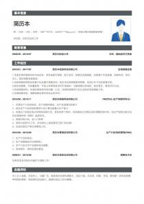 区域销售经理个人简历表格