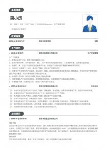 10年经验生产管理/运营个人简历表格
