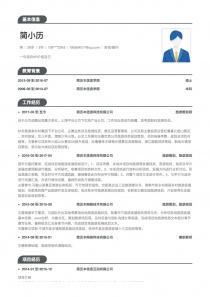咨询/顾问电子版word简历模板