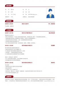 酒店/宾馆经理电子版word简历模板
