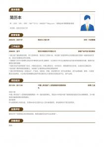 保险产品开发/项目策划简历模板
