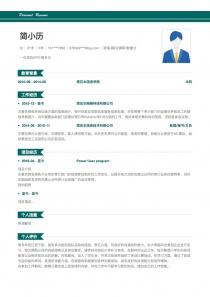 优秀的咨询/顾问/调研/数据分析简历模板下载word格式