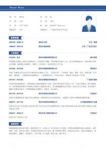 广告美术指导/艺术/设计总监简历模板