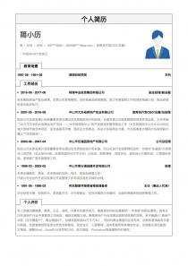 最新首席执行官CEO/总裁/总经理完整word简历模板