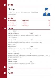 最新人力资源专员/助理简历模板下载