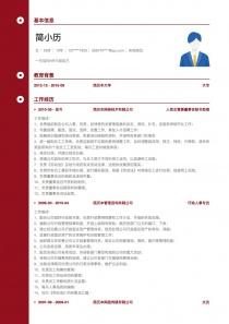10年经验人资主管兼董事会秘书助理简历模板