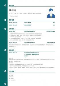 最新知识产权/专利/商标求职简历模板制作