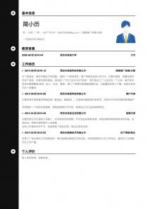 网络推广经理/主管免费简历模板下载