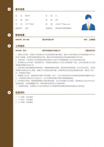 咨询/顾问/调研/数据分析个人简历表格