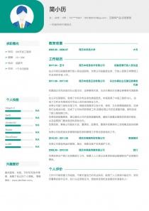 优秀的互联网产品/运营管理免费简历模板