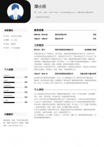 仪器/仪表/计量分析师免费简历模板下载word格式