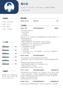 网站推广/运营简历模板下载