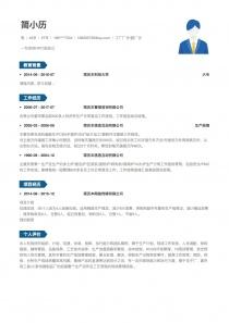 工廠廠長/副廠長簡歷模板