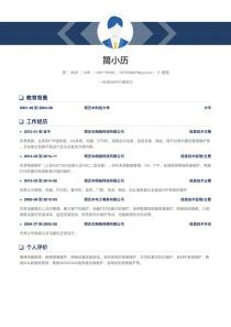 IT-管理word简历模板