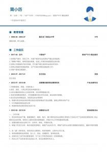 房地产中介/置业顾问个人简历模板下载