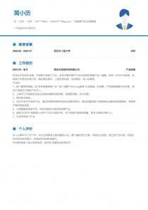 网站推广/运营个人简历模板