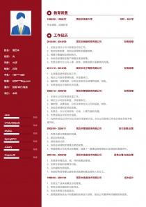 智聯招聘財務/審計/稅務電子版求職簡歷模板范文