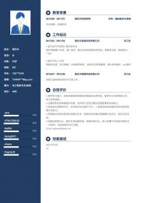 电子商务专员/助理电子版简历模板下载