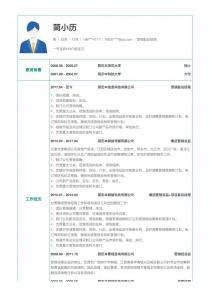 营销副总经理个人简历表格下载