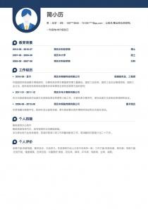 公務員/事業單位/科研機構電子版word簡歷模板