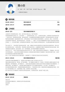 保险电子版word简历模板