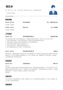 网络运维工程师word简历模板