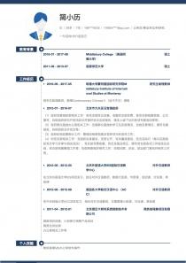2017最新公務員/事業單位/科研機構個人簡歷模板下載word格式