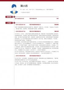 大客户销售代表电子版简历模板下载