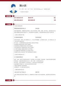 投资银行业务电子版简历模板下载