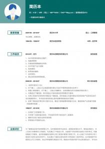 首席财务官/CFO空白免费简历模板