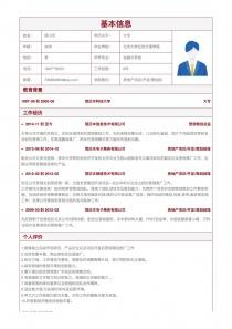 房地产项目/开发/策划经理电子简历表格下载