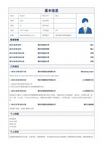 咨询/顾问/调研/数据分析招聘word简历模板