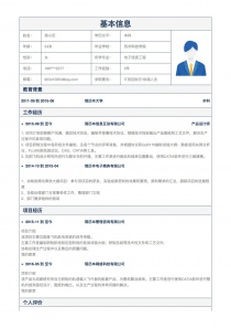 IT项目执行/协调人员求职简历模板
