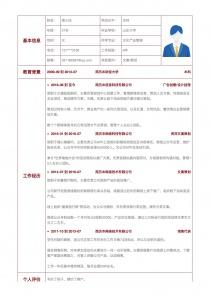 文案/策划电子版简历模板下载