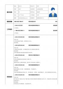 首席财务官CFO空白简历表格