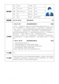 网店/淘宝运营招聘简历模板下载word格式