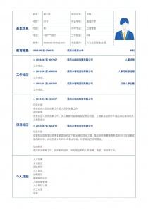 人力资源经理/主管个人简历模板下载