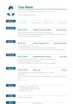 通用求职简历模板_项目经理简历