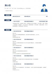 农/林/牧/渔业空白word简历模板