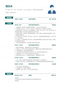 銷售總監/運營總監/部門/事業部管理簡歷模板