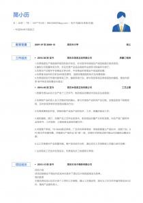 电子/电器/半导体/仪器仪表word简历模板
